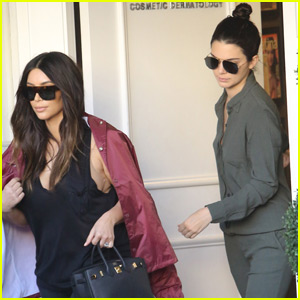 Kendall Jenner Hangs With Kim Kardashian After Hollywood Bus Tour Prank