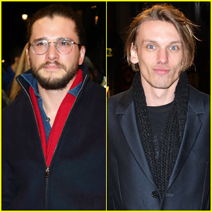 Kit Harington & Jamie Campbell Bower Buddy Up At 'The Maids'!