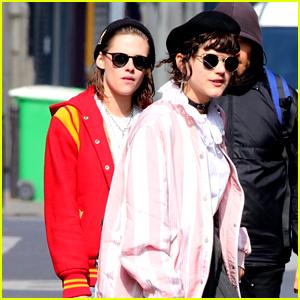 Kristen Stewart Matches in Bold Jackets With Rumored Girlfriend Soko