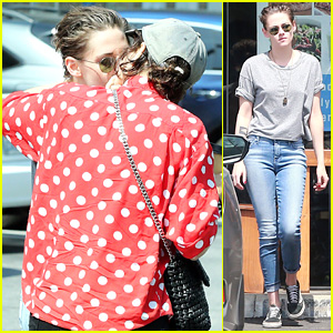 Kristen Stewart & Rumored Girlfriend Soko Share a Smooch on Easter Sunday