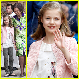 Princess Leonor of Spain Attends Easter Mass With Spanish Royal Family