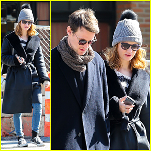 Lily James Catches a Cab With Matt Smith in New York City
