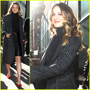 Melissa Benoist Recalls The Time She Was Hit By A Cab On Fallon Melissa Benoist Just Jared Jr