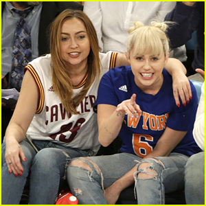 Miley Cyrus Shows Off New Engagement Ring At NY Knicks Game in NYC