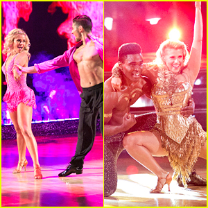 Paige VanZant Stops By Extra After Hot Salsa on 'DWTS' Latin Night