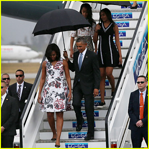 Malia & Sasha Obama Join President Obama for Cuba Trip
