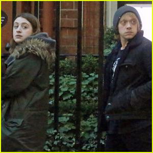 Rupert Grint Hangs With Georgia Groome in London