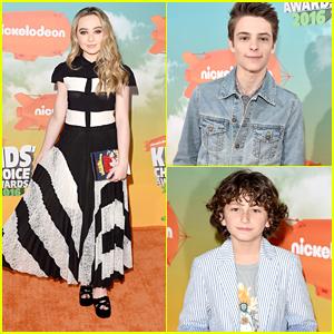 Sabrina Carpenter & Corey Fogelmanis Hit Kids Choice Awards 2016 with August Maturo