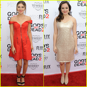 Sadie Robertson & Hayley Orrantia Glam Up For 'God's Not Dead 2' Premiere