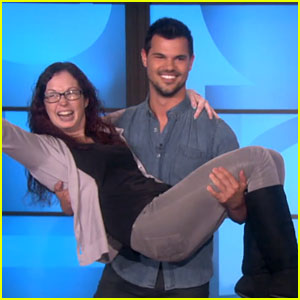 Taylor Lautner Surprises 'Twilight' Fan, Picks Her Up on 'Ellen' (Video)