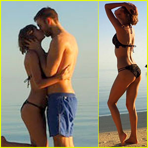 Taylor Swift Shows Off Bikini Body at Beach with Boyfriend Calvin Harris!