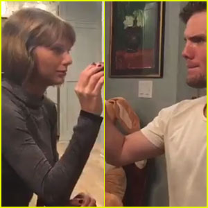 Taylor Swift & Brother Austin Battle It Out with Easter Eggs! (Video)