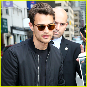 Theo James Signs Autographs After 'Late Show With Stephen Colbert' Taping