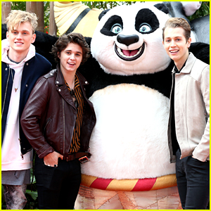 The Vamps Meet Up With Po at 'Kung Fu Panda 3' Premiere in London