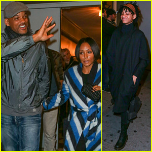 Willow Smith & Her Parents Pay a Visit to Broadway!