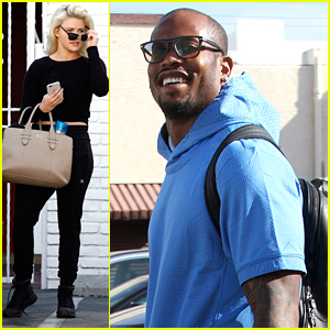 Witney Carson Makes Sure Von Miller Is Good & Relaxed On DWTS Show Day