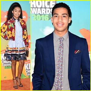 Yara Shahidi & Marcus Scribner Bring 'black-ish' to Kids Choice Awards 2016