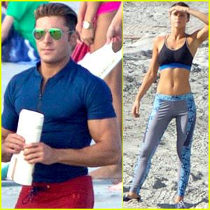 Zac Efron & Alexandra Daddario Hit the Beach for More 'Baywatch'