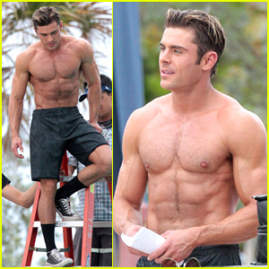 Zac Efron Is The Hottest Shirtless Lifeguard for 'Baywatch' Action Scene!