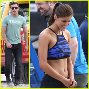 Zac Efron & Alexandra Daddario Hit Miami Beach For More 'Baywatch' Filming