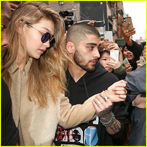 Zayn Malik Escorts Gigi Hadid To Car Amid Crowd Outside Of Apartment