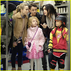 Sabrina Carpenter & Sofia Carson Work Together In First 'Adventures in Babysitting' Stills