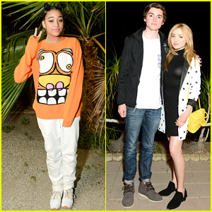 Amandla Stenberg & Peyton List Party at Jeremy Scott's Coachella Bash