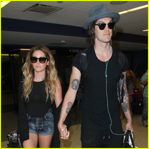Ashley Tisdale & Christopher French Return From Beachy Vacation
