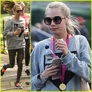 Cara Delevingne Joins Lady Garden Fun Run In Support Of Gynaecological Cancer Fund