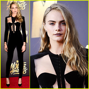 Cara Delevingne Is Stunning in Suit at MTV Movie Awards 2016