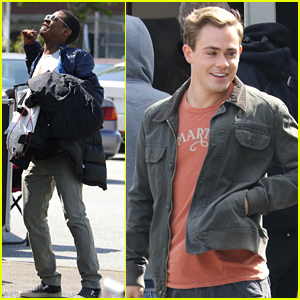 RJ Cyler & Dacre Montgomery Get Ready To Morph On 'Power Rangers' Set