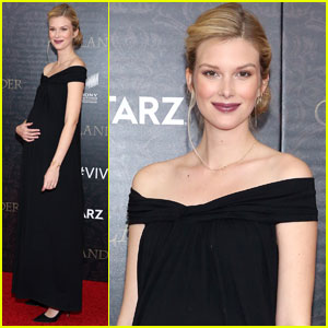 'Stitchers' Star Emma Ishta Shows Off Baby Bump at 'Outlander' Premiere