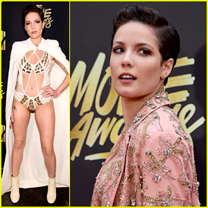 Halsey Goes 'Mermaid Business Casual' for MTV Movie Awards 2016