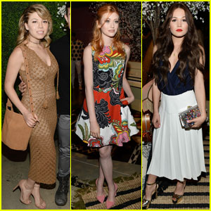 Katherine McNamara, Kelli Berglund & Arden Cho Sit Front Row for Alice + Olivia
