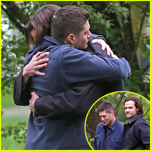 Jensen Ackles & Jared Padalecki Hug It Out on 'Supernatural' Set in Vancouver