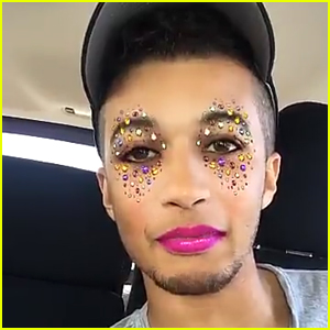 Jordan Fisher Plays With Snapchat Filters During Radio Tour