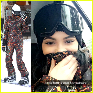 Kendall & Kylie Jenner Snapchat From Snowboards on Family Trip