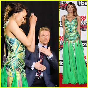 Kat Graham & Derek Hough Break It Down Backstage at iHeartRadio Music Awards 2016
