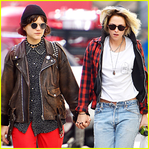 Kristen Stewart Holds Hands With Soko & Rocks New Blonde Hair