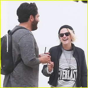 Kristen Stewart Kicks Off Her Weekend with BFF CJ Romero