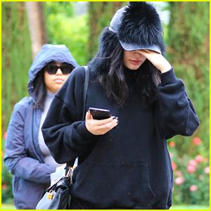Kylie Jenner & Jordyn Woods Brave Rain For Lunch in LA