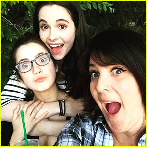 Laura Marano Visits Sis Vanessa Marano on 'Switched At Birth' Set