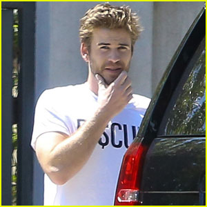 Liam Hemsworth Emerges Solo in Studio City