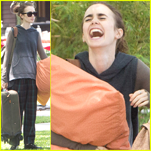 Lily Collins Can Not Stop Laughing While Filming 'To The Bone'