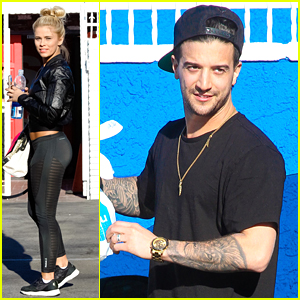 Mark Ballas Gives Little Update on Back Injury Before Practice with Paige VanZant