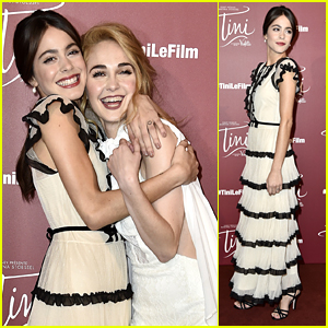 Martina Stoessel Premieres 'Tini' In Paris With Jorge Blanco