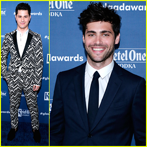 Matthew Daddario & Michael J. Willett Step Out For GLAAD Awards 2016