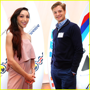 Meryl Davis & Charlie White Toast To Team USA with Nastia Liukin