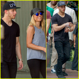 Nick Jonas Hangs With a Female Friend After Shooting New Music Video