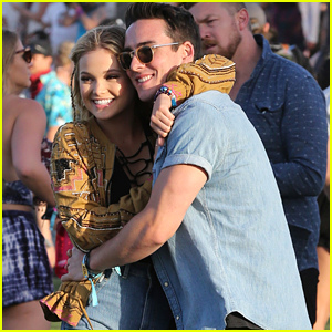 Olivia Holt Hugs Boyfriend Ray Kearin During Coachella 2016 - See The Cute Pics!